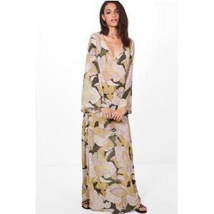 BOOHOO | Sheer Floral Maxi Dress